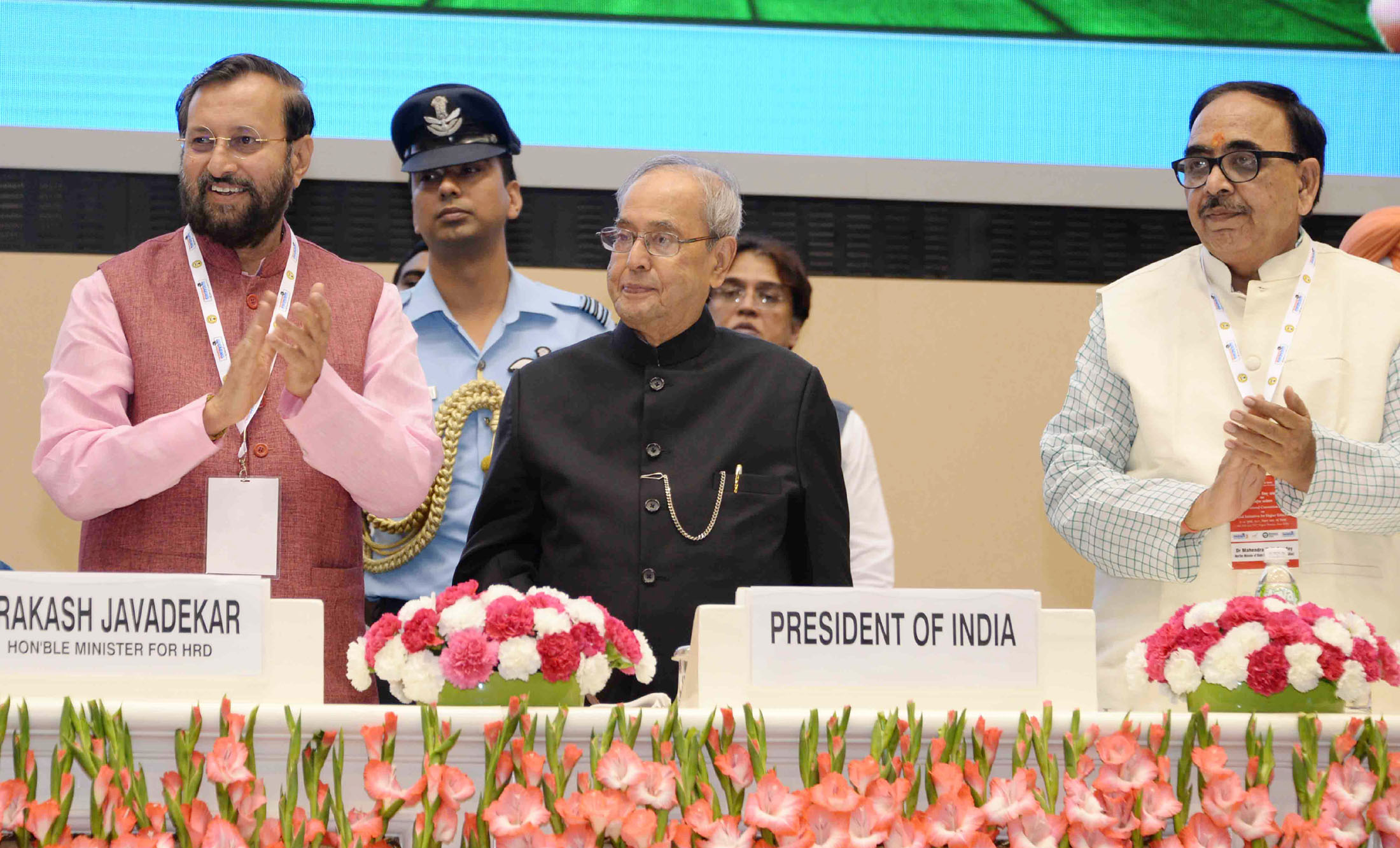 "President of India Pranab Mukherjee launched the ""SWAYAM"""