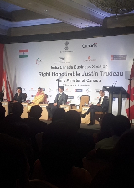 ICEC Attends 'Indo-Canada Business Session' Addressed by Prime Minister Justin Trudeau and Organised by C-IBC/ICBC